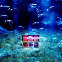 海の底の宝箱