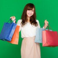 買い物大好きな女子の画像
